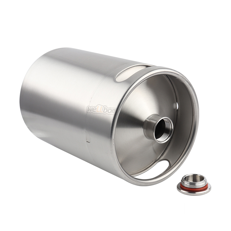 Draft beer homebrew kegging 2l 64oz  stainless steel keg growler for easy carrying and pouring stainless keg growler