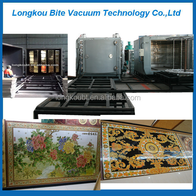 Ceramic gold color coating machine, ceramic vacuum coater, porcelain ceramic PVD coater