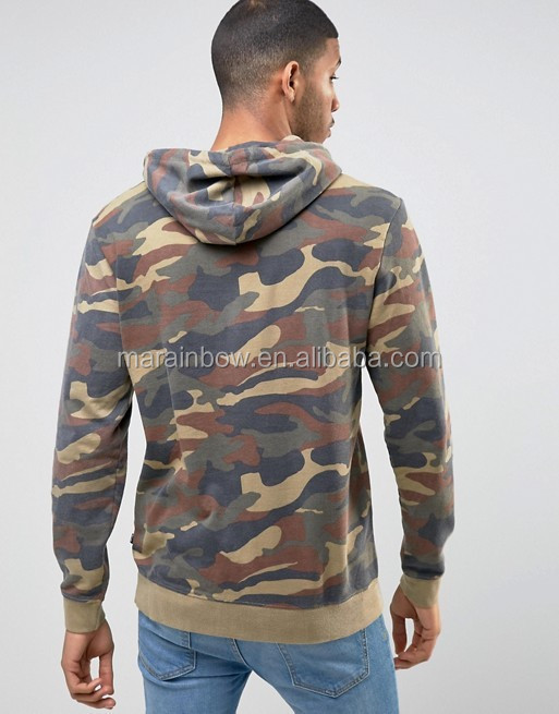 High Quality Oil Green Camo Hoodie with Drop Shouler Regular Fit Men's Full Sublimation Printed Pullover Hoodie