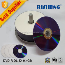 Blank Printable DVD+R DL 8.5GB 240min Spindle 8x Double Dual Layer Recordable Media Disc Compact Write Once Data Storage