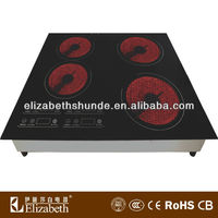 electric ceramic hot plate/ceramic hob 4 burner/ceramic hob 2 burner
