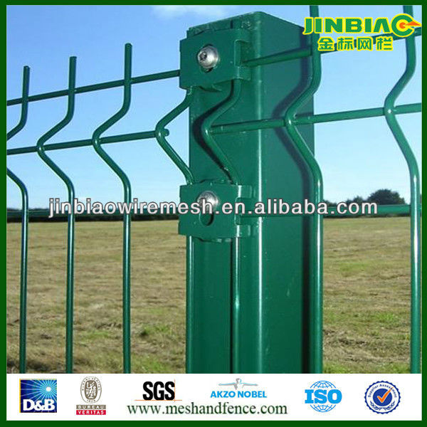 Square metal yard guard fence post