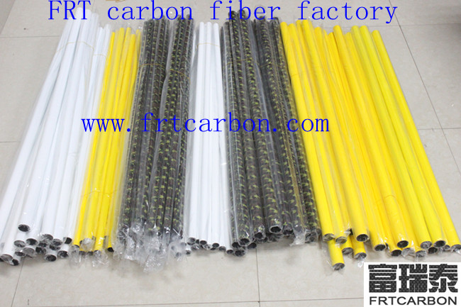 carbon fiber pipe tubing 30mm logo for rc drone wings