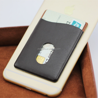 2017 Factory Directly Hot Selling Leather Adhesive Mobile Phone Wallet /Case