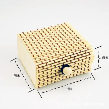 wholesale mini size handmade bento box bamboo craft knit bamboo present box