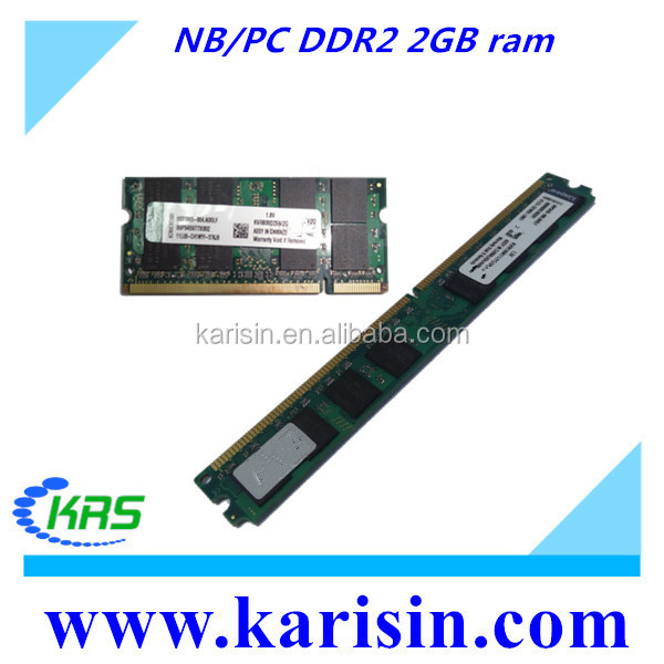 Desktop & laptop application ddr2 667mhz 800mhz memory ram 2 gb with original chips