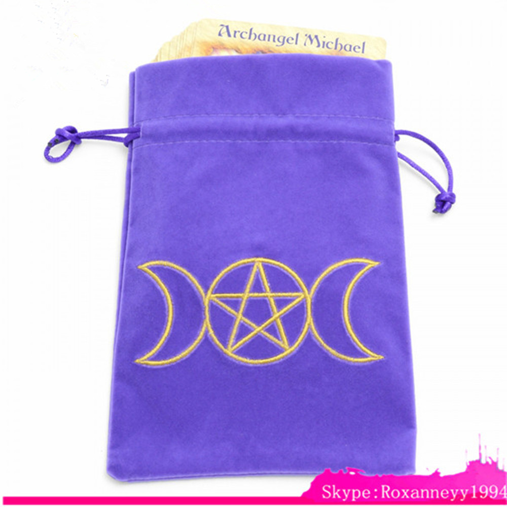 Wholesale Custom Purple Gift Velvet Drawstring Pouch Bag With Embroidery Logo