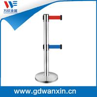 Cheap portable Stainless steel queue barrier pole stand
