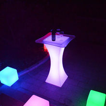 RGB light up LED flashing furniture Acrylic material 16colors change led table