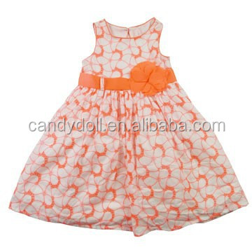 Summer Dress 2017 Bandage Dress Sleeveless 100% Cotton Princess Party Frock Children Clothing