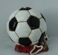 Design your own plastic coin bank soccer ball,OEM money saving box producer, Design Plastic Coin bank manufacturers