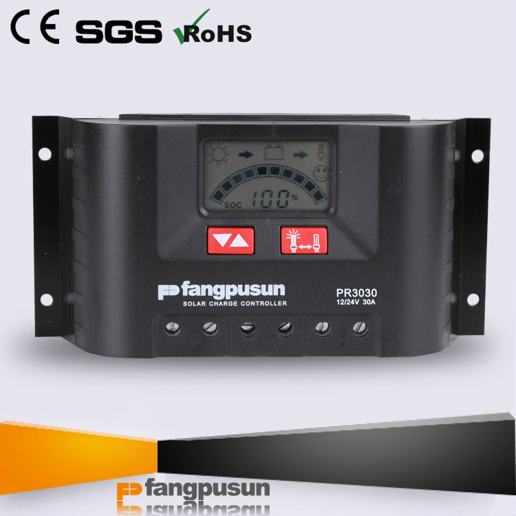 CE solar panel controller 12v 24v rate 30a battery charger