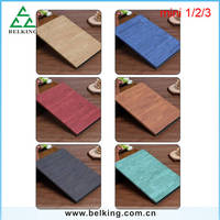 For iPad Mini1/2/3 PU Rock Stylus Leather Stand Case, Flip Tablet Case For iPad Mini