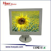 Hot Sale 10 inch 12 inch 15 inch 17 inch White LCD Monitor