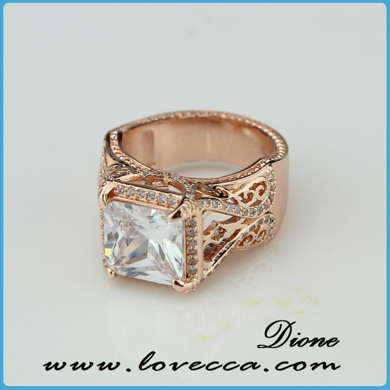 updated classic opening ring leisure style white diamond finger ...