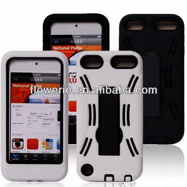 FL2407 soft silicone combo case for ipod touch 5