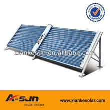 non-pressurized solar collector for solar water heating system of large plastic pool
