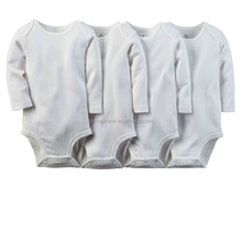 Low price baby romper manufacture custom plain white baby bodysuit