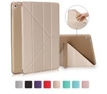 Folio Shockproof Ultra Thin Flip pu Leather tpu back Magnetic Smart Stand Folding cover Case for iPad pro 10.5 air 2 mini 1 2 3
