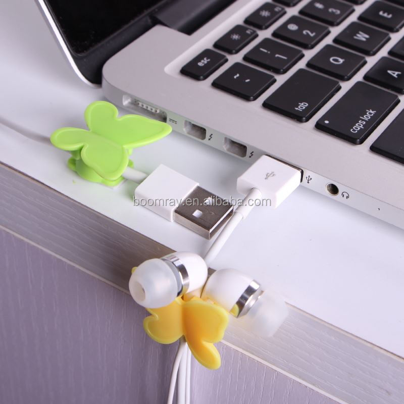 1 dollar china supplier Plastic adhesive tape butterfly cable holder pda phone accessories