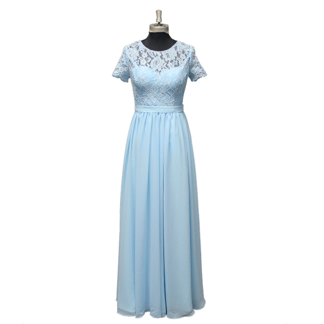 Factory Customized Long Lace Chiffon Bridesmaid Dress 2018 For Wedding