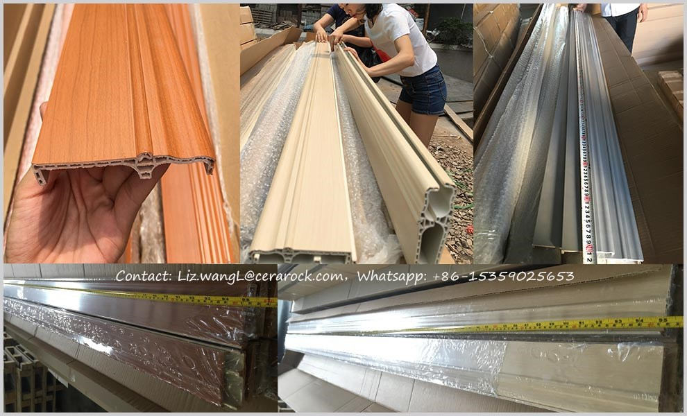 water proof wooden color PVC Skirting board 2.4m 2.0m