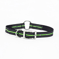 Quality reflective specialized flexible dog collar with paw and bone printed custom color size collars