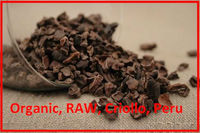 Certified Organic Cacao nibs, Raw, Criollo from Peru