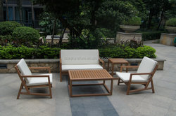 Teak wooden color plastic wood sofa furniture garden outdoor