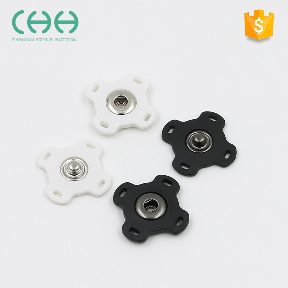 Factory supply eco-friendly plastic cross-shaped snap button