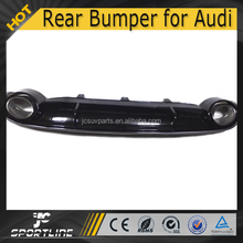 Standard RS7 Style PP Rear Bumper Diffuser for Audi A7 with Exhuast 2013UP