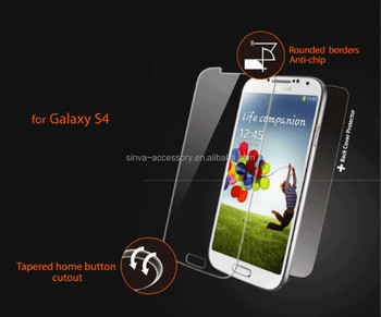 Sinva factory 2015 9h 2.5D anti shock privacy tempered glass screen protector for Samsung