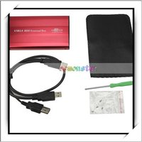"2.5"" Red USB 2.0 IDE 2.5 HDD HD Hard Drive Enclosure Case-NTS01RE"
