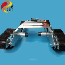 Official DOIT 4wd RC Metal Tank Chassis Crawler Tracked vehicle Driving Wheel Chain Car Vehicle Mobile Plaform