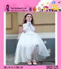 Hot Sale Cheap Girls Dress Sleeveless Baby Long Wedding Dress With Ruffles Child Clothing Kids Party Wear Dress
