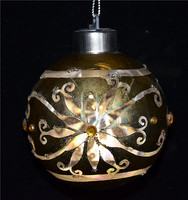 New christmas products in china, golden christmas ball with led and beautiful flower for garden lighting from www.alibaba.com