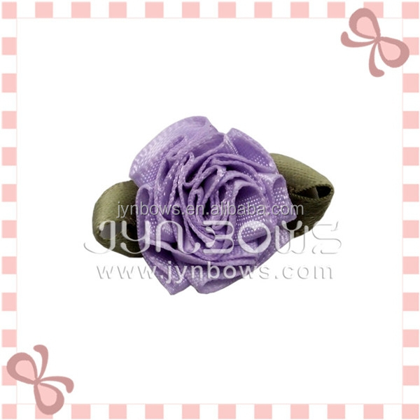 fashion design ribbon artificial flowers making for home decoration