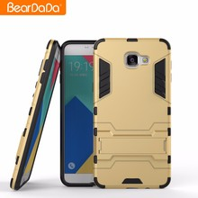 Hybrid TPU PC Kickstand armor case back cover for samsung galaxy a7 a8 a9 pro 2016