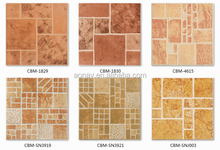 Interior floor tile 400x400mm rustic tile with mixed color ceramic floor tile 60 60