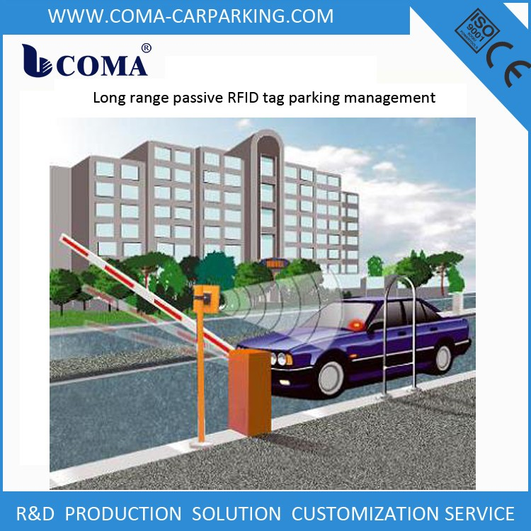 RFID parking solution for residential parking lot with parking management software