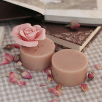 100g OEM/ODM natural whitening soap Rose Essential Oil Handmade Cold Soap