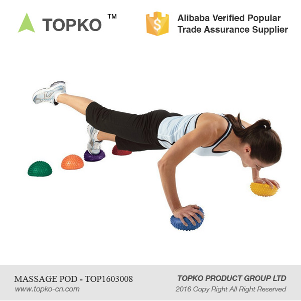 TOPKO Wholesale Soft Spike Half Massage Pod Fitness PVC Balance Pod