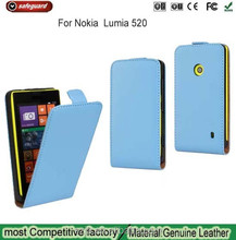 new arrival leather case for Nokia Lumia 520 Decorative Design Leather for Nokia 520 Case