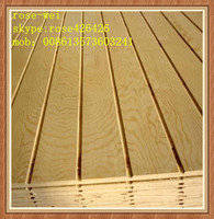 grooved plywood/fancy plywood /paper overlaid plywood for furniture