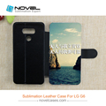 cheap price subliamtion diy leather cellphone case for LG G6
