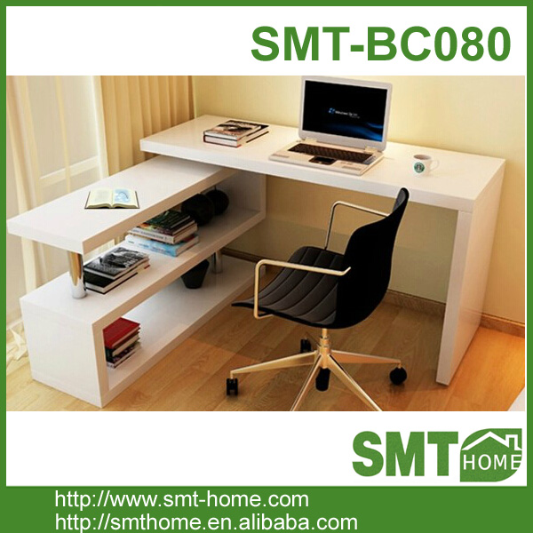 Innovative Product Wooden computer table with bookshelf