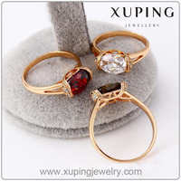 12475 Xuping 18K Gold Color Ring, Fashion Jewelry Gemstone Finger Ring for women