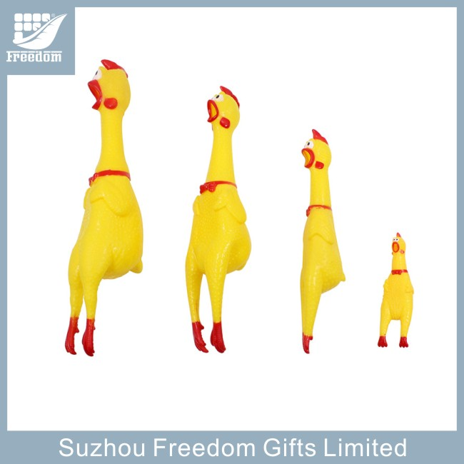 Vinyl shrilling squeaky chicken pet toys