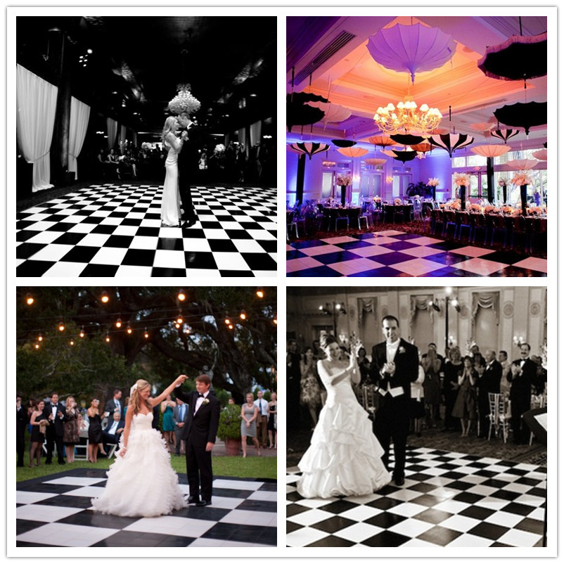 RK Black And White Dance Floor Used Portable wooden Dance Floor for Wedding