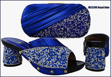 Royal blue new italian women shoes and bags sets for evening party MS3200 ROYAL BLUE